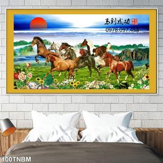 Tranh gạch 3D - ngựa phi - 8-8774 thumbnail