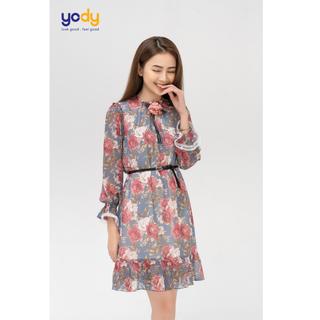 Đầm voan nữ hoa nhí dáng suông thương hiệu Yody - VDN3644 thumbnail