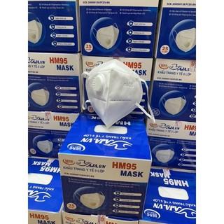 Hộp Khẩu Trang N95 KN95 HM95 Mask 5 Lớp Chống Bụi Mịn (25 cái) - 2005_48754875 thumbnail