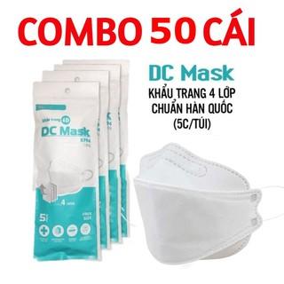 50 CÁI - Khẩu trang 4D - DC Mask KF94 - Lọc bụi mịn, kháng khuẩn 4 lớp - Đạt Chuẩn Công Nghê Hàn Quốc - DC MASK 50 thumbnail