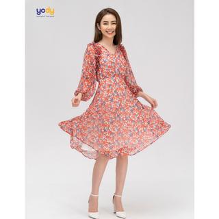 Váy Voan Nữ Hoa Nhí Nơ Bèo Rủ Thương Hiệu Yody - VDN3648 thumbnail