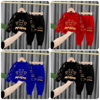 Bộ quần áo trẻ em 7-17kg dành cho cả bé trai và bé gái mẫu Monster - Monster thumbnail
