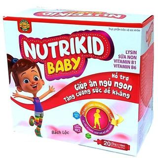 Siro Ăn Ngủ Ngon Nutrikid Baby - Bổ Sung Lysin, Vitamin B1, B6 Giúp Bé Ăn Ngon,NgủTốt, Tăng Sức Đề Kháng- Hộp 20 ống - Siro Ăn Ngủ Ngon Nutrikid Baby thumbnail