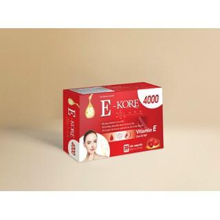 Vitamin E Kore 4000 chiết xuất Cao lô hội- Ngăn ngừa lão hóa, cấp ẩm da vượt trội, giúp da sáng mịn- Hộp 30 viên - Vitamin E Kore 4000 chiết xuất Cao lô hộ thumbnail