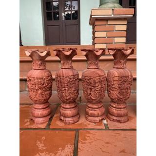 Cặp lộc bình khắc tứ linh .bằng gỗ hương [ĐƯỢC KIỂM HÀNG] 48851411 - 48851411 thumbnail