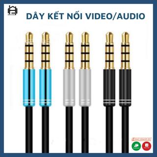 Dây kết nối, chuyển đổi 2 đầu thiết bị VIDEO AUDIO, dây dài1,5M nhiều màu sắc - Jack chuyển đổi 3.5 thumbnail