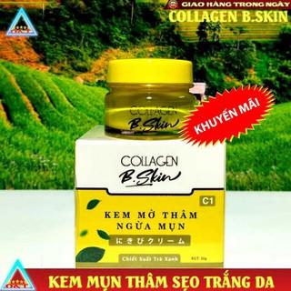 Kem thâm mụn dưỡng trắng da chống nắng collagen B Skin Nhật nam và nữ 20g - KemmunBskin thumbnail