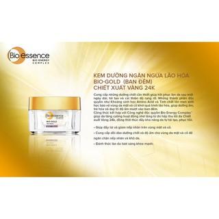 Kem dưỡng da ngăn ngừa lão hóa Bio-Essence Bio Gold Night Cream ban đêm chiết xuất tinh chất vàng 24k 40g - KDEMGOLD thumbnail