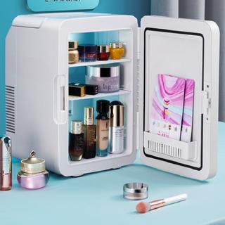Tủ lạnh mini 10L mặt gương có đèn led tiện lợi - 2158_48940285 thumbnail