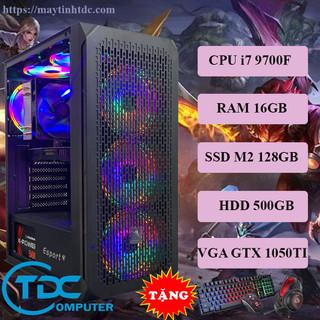 Máy tính chơi game, Live Streamer thiết kế đồ họa làm văn phòng Youtube chuyên nghiệp PC Gaming CPU core i7 9700F, Ram 16GB,SSD M2 128GB, HDD 500GB Card 1050TI,Tặng bộ phím chuột,tai nghe chơi game - VSP.9700F.16.M2128.500.1050 thumbnail