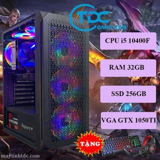 Máy tính chơi game, Live Streamer thiết kế đồ họa làm văn phòng Youtube chuyên nghiệp PC Gaming CPU core i5 10400F, Ram 32GB,SSD 256GB, Card 1050TI,Tặng bộ phím chuột,tai nghe chơi game - VSP.10400F.32.256.1050 thumbnail
