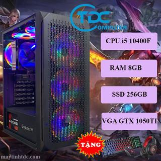Máy tính chơi game, Live Streamer thiết kế đồ họa làm văn phòng Youtube chuyên nghiệp PC Gaming CPU core i5 10400F, Ram 8GB,SSD 256GB, Card 1050TI,Tặng bộ phím chuột,tai nghe chơi game - VSP.10400F.8.256.1050 thumbnail