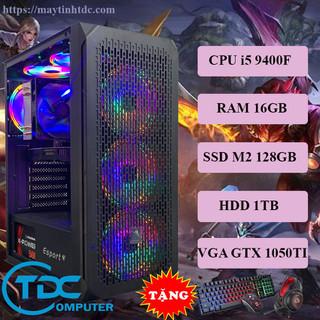 Máy tính chơi game, Live Streamer thiết kế đồ họa làm văn phòng Youtube chuyên nghiệp PC Gaming CPU core i5 9400F, Ram 16GB,SSD M2 128GB, HDD 1TB Card 1050TI,Tặng bộ phím chuột,tai nghe chơi game - VSP.9400F.16.M2128.1TB.1050 thumbnail