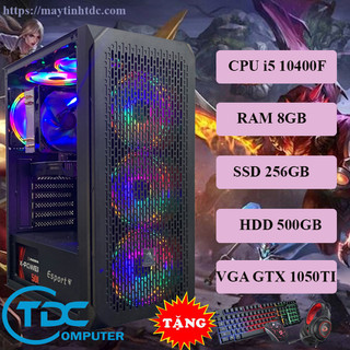 Máy tính chơi game, Live Streamer thiết kế đồ họa làm văn phòng Youtube chuyên nghiệp PC Gaming CPU core i5 10400F, Ram 8GB,SSD 256GB, HDD 500GB Card 1050TI,Tặng bộ phím chuột,tai nghe chơi game - VSP.10400F.8.256.500.1050 thumbnail