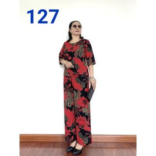 Đồ Bộ Trung Niên Tay Lỡ- Lụa Hàn Châu - chất vải loại 1 - Dành Cho Quý Bà - Laddy Store - lualo2021 thumbnail