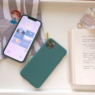 Ốp lưng điện thoại nhựa dẻo Iphone trơn xanh lá cây 5 5s 6 6plus 6s 6splus 7 7plus 8 8plus x xr xs xs max 11 12 pro max plus pro - UA0005XR thumbnail