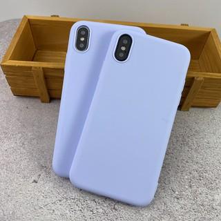 Ốp lưng điện thoại nhựa dẻo IPHONE màu tím nhẹ 5 5s 6 6plus 6s 6splus 7 7plus 8 8plus x xr xs xs max 11 12 pro max plus promax - UA0002XR thumbnail