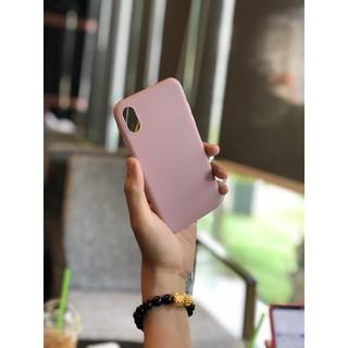 Ốp lưng nhựa dẻo IPHONE trơn màu hồng đất 6 6plus 6s 6splus 7plus 8plus x xs xsmax 11 12 pro max plus promax - UA0013XR thumbnail