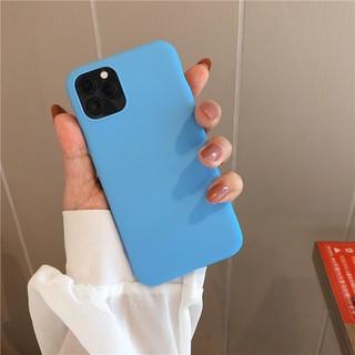 Ốp lưng điện thoại iphone trơn xanh da trời 6 6plus 6s 6splus 7 7plus 8 8plus x xr xs xs max 11 12 pro max plus promax - UA0017XR thumbnail