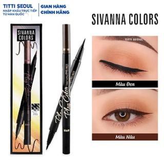 Bút Kẻ Mắt Nước 2 Đầu Đen Và Nâu Sivanna Play Color Long Lasting Eyeliner HF1885 - Bút Kẻ Mắt Nước 2 Đầu Đen Và Nâu Sivanna Play thumbnail