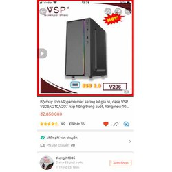 Thùng máy học tập, chơi game LoL giá rẻ Cpu 2,8Ghz, ram 4G, VGA 1G (case VSP V601,602 mới100%)