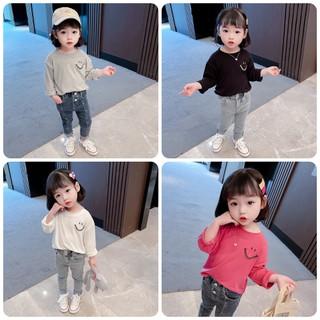 Áo dời trẻ em 7-17kg dành cho bé gái hình mặt cười xinh xắn. Hàng may kỹ, chất vải đẹp, màu sắc bắt mắt - Áo Mặt Cười thumbnail