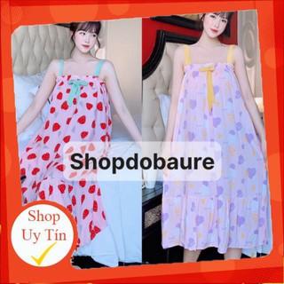Váy lanh bầu 2 dây mùa hè cực kì mềm mát dễ chịu mùa hè - lk90df thumbnail