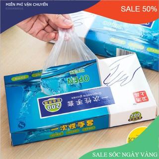 Hộp 200 Găng Tay Nilong Thần Thánh Làm rau, làm cá, làm kim chi không vướng víu vệ sinh thực phẩm, tránh nhiễm khuẩn - dd152kii thumbnail