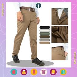 Quần kaki nam ống suông trung niên cao cấp đẹp vải dày form chuẩn