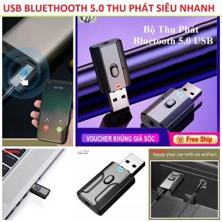USB Bluethooth 5.0 thu phát âm thanh dùng cho các loại amly loa gia đình và ô tô hàng cao câp chinh hãng - a112 thumbnail