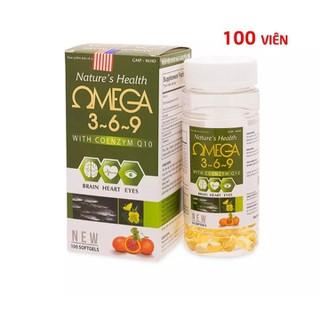 Viên uống dầu cá O.m.e.g.a 369, Dầu gấc, hoa anh thảo bổ não, sáng mắt, khỏe mạnh tim mạch - Hộp 100 viê - Viên uống dầu cá O.m.e.g.a 369, Dầu gấc, thumbnail