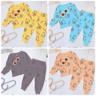 Bộ quần áo thu đông trẻ em 7-17kg dành cho cả bé trai và bé gái mẫu Gấu đáng yêu, xinh xắn - Áo Hình Gấu thumbnail
