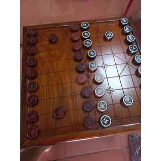 Bộ bàn cờ tướng gỗ gõ 50 48 3cm .quân mặt gỗ trắc 4.2cm dầy 1.2cm - CỜ 50 48 3 thumbnail