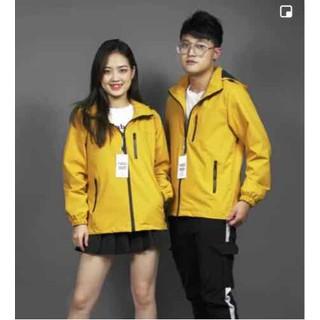 Áo khoác nam nữ 2 lớp (vải tráng bạc - chống gió ,chống nước) - giodoi054 thumbnail