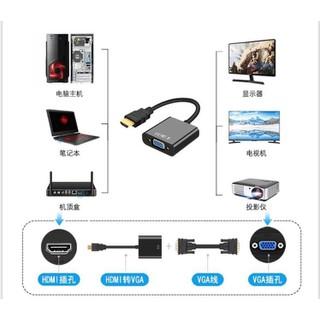 Cáp chuyển đổi HDMI sang VGA dùng chuyển đổi HDMI từ Android Box sang màn hình vi tính LCD, Tivi, máy chiếu - 1909001 thumbnail