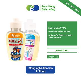Gel rửa tay khô Sanaryl Kid 70ml giúp bảo vệ bé yêu mùa dịch - SANARYLKID70 thumbnail