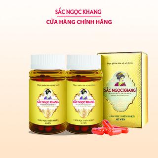Combo 2 hộp viên uống Sắc Ngọc Khang Vi tảo lục hỗ trợ giảm nám, tàn nhang (Hộp 60 viên) - CB2VTL thumbnail