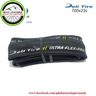 Vỏ lốp gấp xe đạp Deli Tire ULTRA FLEX-PRO 700x23c - 1 chiếc [ĐƯỢC KIỂM HÀNG] 12481488 - 12481488 thumbnail