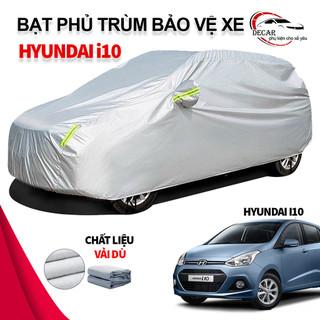 [HYUNDAI I10] Bạt phủ xe ô tô Hyundai Grand i10 chất liệu vải dù oxford cao cấp, áo trùm xe ô tô 5 chỗ i10 , bạc phủ trùm bảo vệ che nắng, chống mưa cho xe oto xe hơi - 6132878589 thumbnail