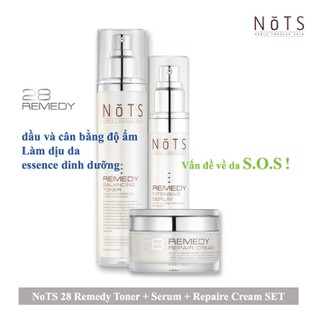 SOS SET 3 NoTS 28 Remedy Balancing Toner 100ml, Intensive Serum 35ml, Repair Cream 30g - 2990_50638916 thumbnail