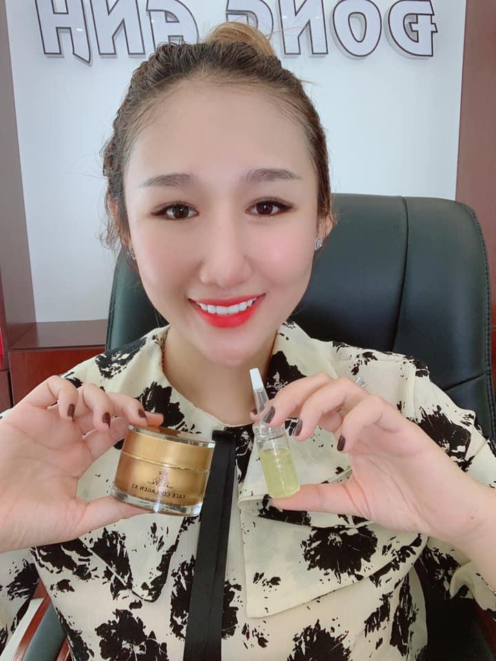 Combo kem Face và serum Collagen x3 mờ nám hết tàn nhang 20ml - Combo kem face serum 1