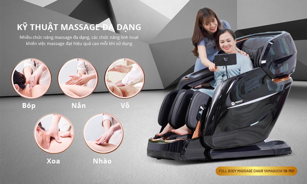 YAMAGUCHI 750 ( YA-750 ) - Nơi bán ghế massage chính hãng uy tín số 1 VIỆT NAM - Gọi ngay 032.999.1561 Giảm giá SỐC 75% - YA-750 13