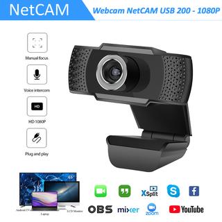 Webcam NetCAM USB 200 Độ phân giải 1080P - Hãng phân phối chính thức - Webcam NetCAM 200 1080P thumbnail