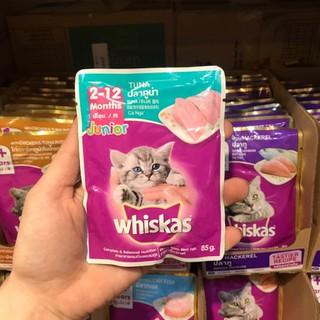 Thùng 24 gói Pate Whishcat cho mèo con vị cá thu, whiskas junior gói 80g - WK03C thumbnail