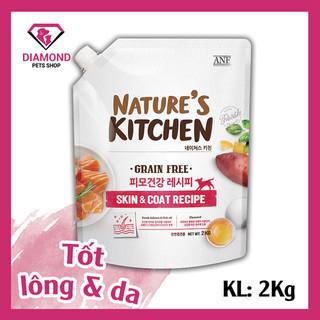 [ Date 2 2022] Hạt thức ăn chức năng tốt cho da và lông dành cho chó mọi lứa tuổi NATURE S KITCHEN 2KG - 8809306231017 thumbnail