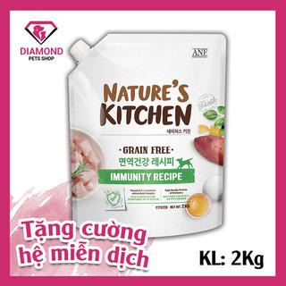 [ Date 2 2022] Hạt thức ăn chức năng tăng cường hệ miễn dịch dành cho chó mọi lứa tuổi NATURE S KITCHEN 2KG - 8809306231000 thumbnail