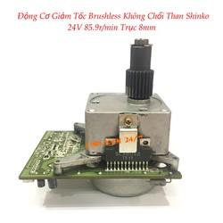 Động Cơ Giảm Tốc Brushless Không Chổi Than Shinko 24V 85.9r/min Trục 8mm