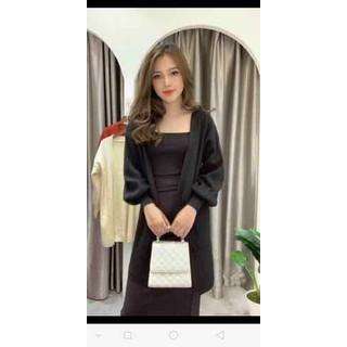 Áo khoác len dáng dài cadigan cho nữ - 047 thumbnail