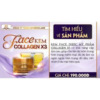 Combo kem Face và serum Collagen x3 mờ nám hết tàn nhang 20ml - Combo kem face serum 5