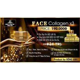 Combo kem Face và serum Collagen x3 mờ nám hết tàn nhang 20ml - Combo kem face serum 3